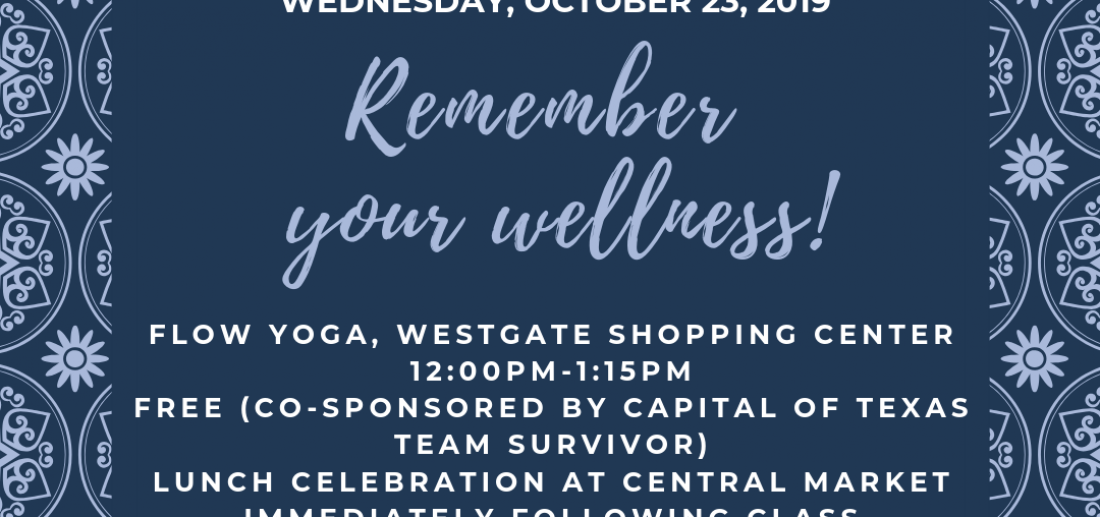 Wednesday Yoga Returns to South Austin!